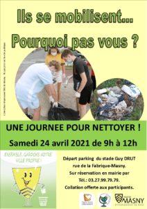 Mobilisation citoyenne : une journée pour nettoyer ! @ Parking du Stade Guy Drut