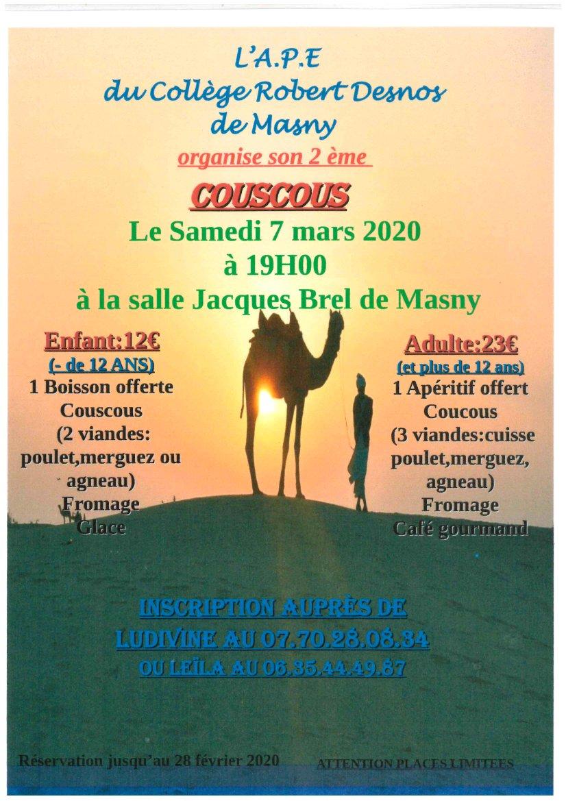Soirée Couscous @ Salle Jacques Brel